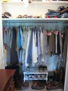 Male's Closet - Before